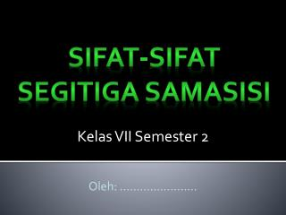 Kelas VII Semester 2