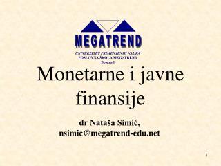 Monetarne i javne finansije