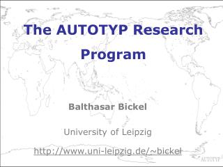 The AUTOTYP Research Program