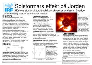 Solstormars effekt på Jorden
