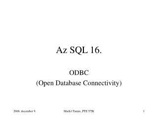Az SQL 16.