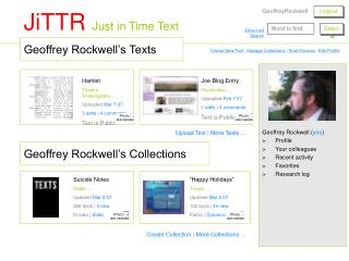 Geoffrey Rockwell's Texts