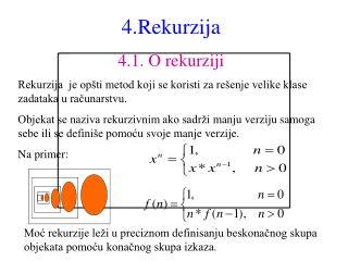 4 .Rekurzija 4.1.  O rekurziji