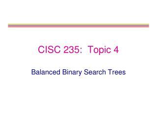 CISC 235:  Topic 4