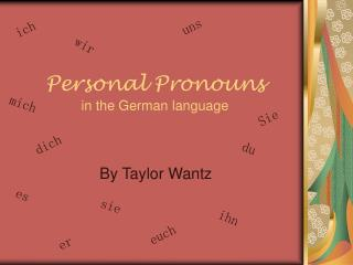 Personal Pronouns in the German language