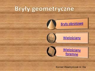 Bryły geometryczne