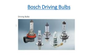 Bosch Driving Bulbs