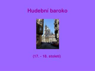 Hudební baroko