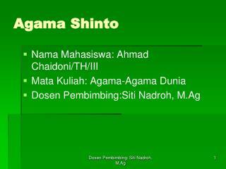 Agama Shinto