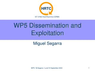 WP5 Dissemination and Exploitation
