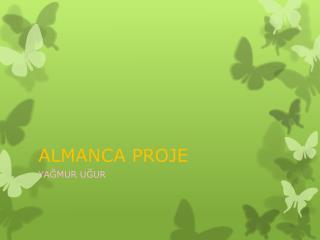 ALMANCA PROJE