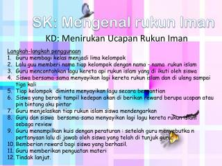 SK: Mengenal rukun Iman