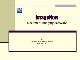 ImageNow Document Imaging Software