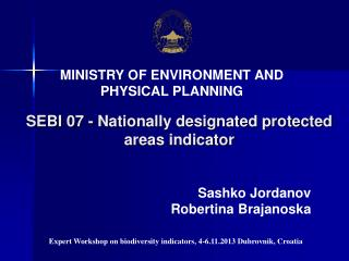 SEBI 07 - Nationally designated protected areas indicator