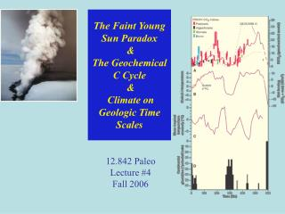 The Faint Young Sun Paradox  & The Geochemical C Cycle  &  Climate on Geologic Time Scales