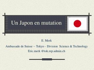 Un Japon en mutation