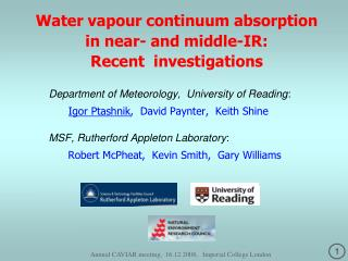 Water vapour continuum absorption  in near- and middle-IR:   Recent  investigations