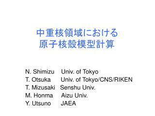 N. Shimizu    Univ. of Tokyo T. Otsuka      Univ. of Tokyo
