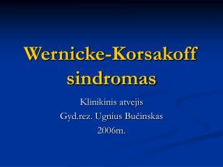 Wernicke-Korsakoff sindromas