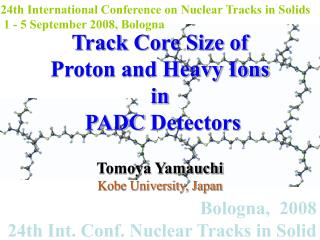 Bologna,  2008 24th Int. Conf. Nuclear Tracks in Solid