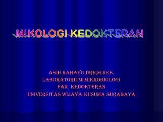 Asih Rahayu,drh,M.kes. Laboratorium mikrobiologi Fak. Kedokteran