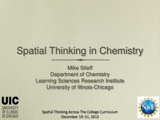Spatial Thinking in Chemistry