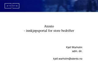 Atento  - innkjøpsportal for store bedrifter