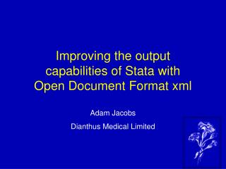 Improving the output capabilities of Stata with Open Document Format xml