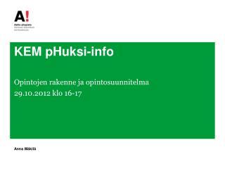 KEM  pHuksi-info