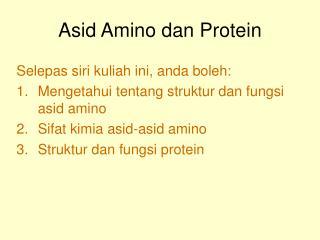 Asid Amino dan Protein
