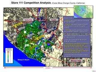 Store 111 Competition Analysis  (Costa Mesa Orange County, California)