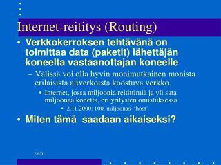 Internet-reititys (Routing)