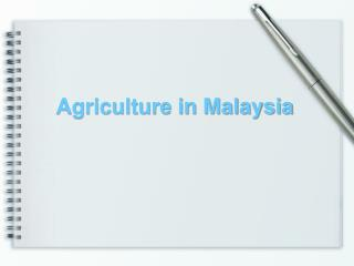 Agriculture in Malaysia