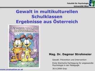 Fakultät für Psychologie Universität Wien