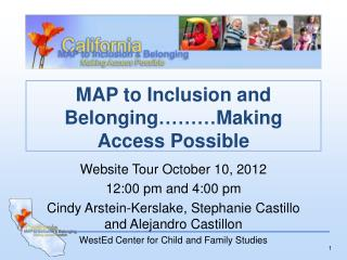 MAP to Inclusion and Belonging………Making Access Possible