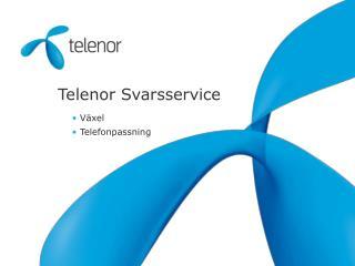 Telenor Svarsservice