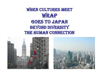 when cultures meet WRAP Goes to Japan Beyond Diversity The Human Connection