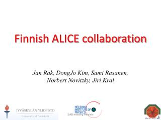 Finnish ALICE collaboration