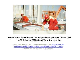 Industrial Protective Clothing Market Trends,Forecast to 202