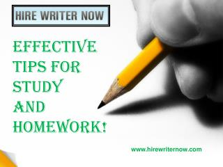 Effective Tips for Study and Homework!