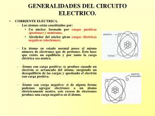 GENERALIDADES DEL CIRCUITO ELECTRICO.