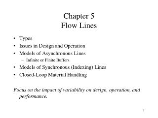 Chapter 5 Flow Lines