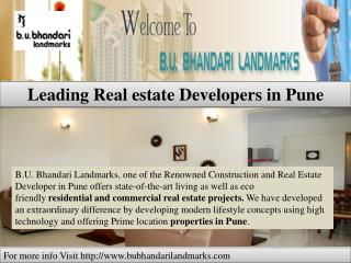 B.U.Bhandari Landmarks Brings Real estate Projects in Pune