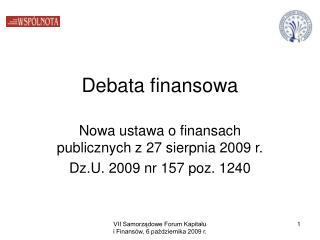 Debata finansowa