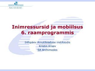 Inimressursid ja mobiilsus 6. raamprogrammis