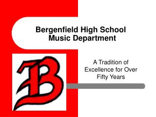 Bergenfield High School	 Music Department