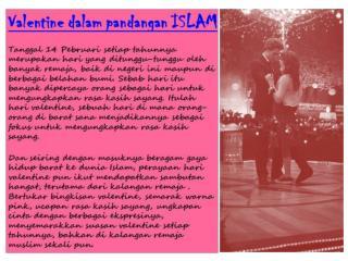 Perayaan Valentine's  adalah dari Syiar Agama Nasrani