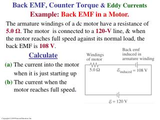 Back EMF, Counter Torque  &  Eddy Currents