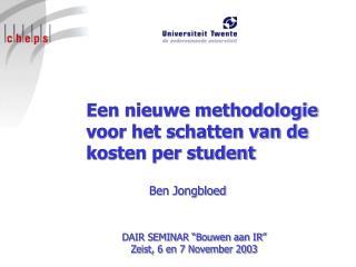 Een nieuwe methodologie voor het schatten van de kosten per student