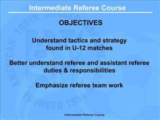 Intermediate Referee Course